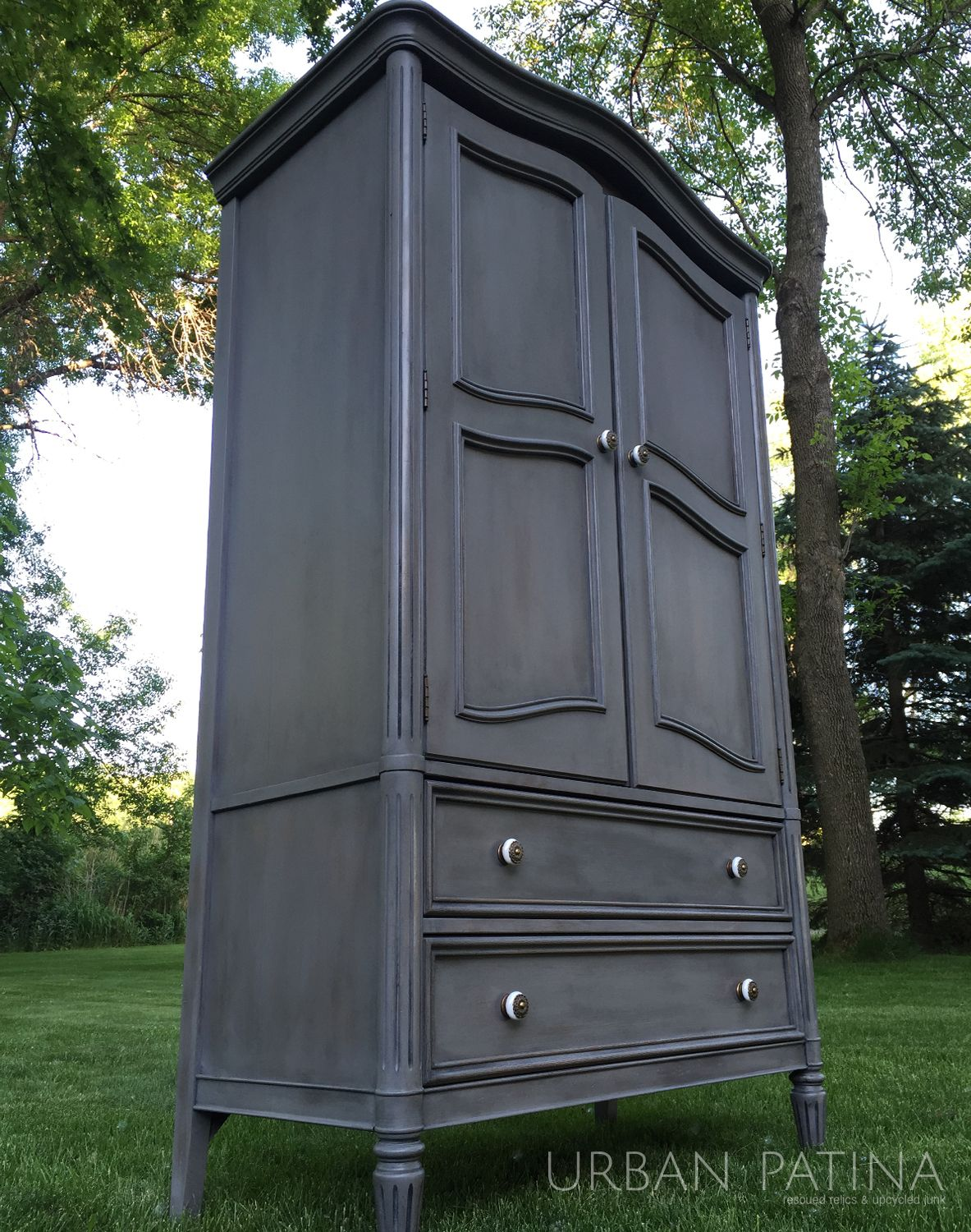Urban Patina: Armoire Makeover, Annie Sloan Chalk Paint, Black Wax