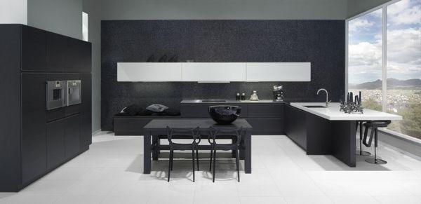 moderne schwarz-weiße Küche | Interior | Pinterest | weiße Küchen ...