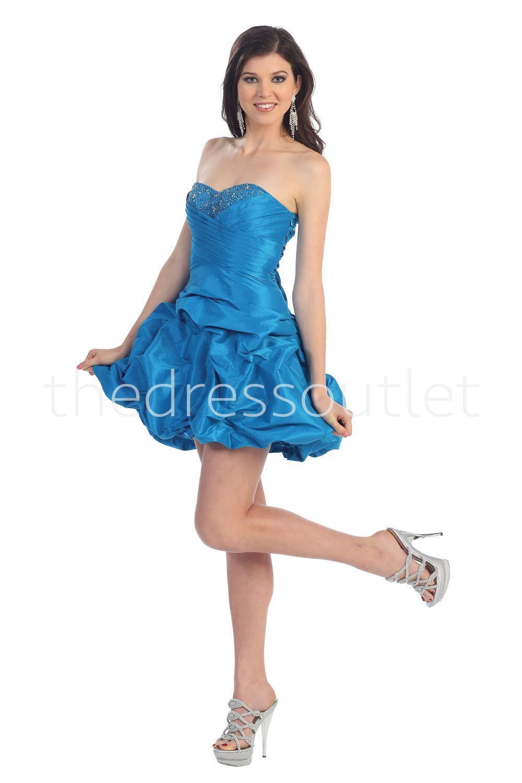 Homecoming Corset Back Prom Short Cocktail Strapless Taffeta Dress ...