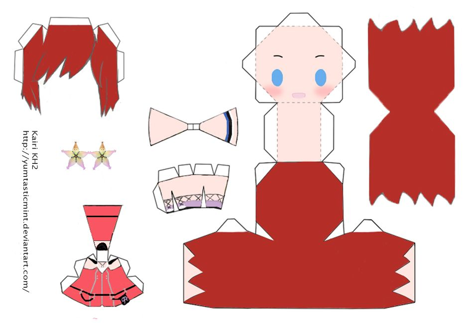 Chibi Kairi Papercraft By Yumtasticmintdeviantartcom Paper Craft