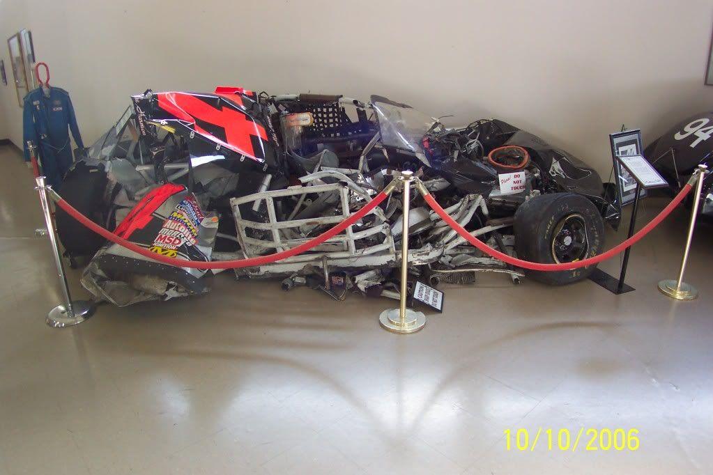 Mike Harmon S Busch Car From Bristol Nascar Crash Nascar Wrecks