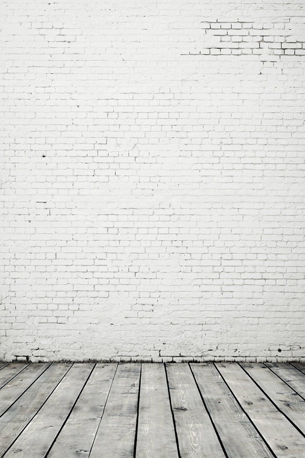 5x6.5ft Retro Brick White Photography