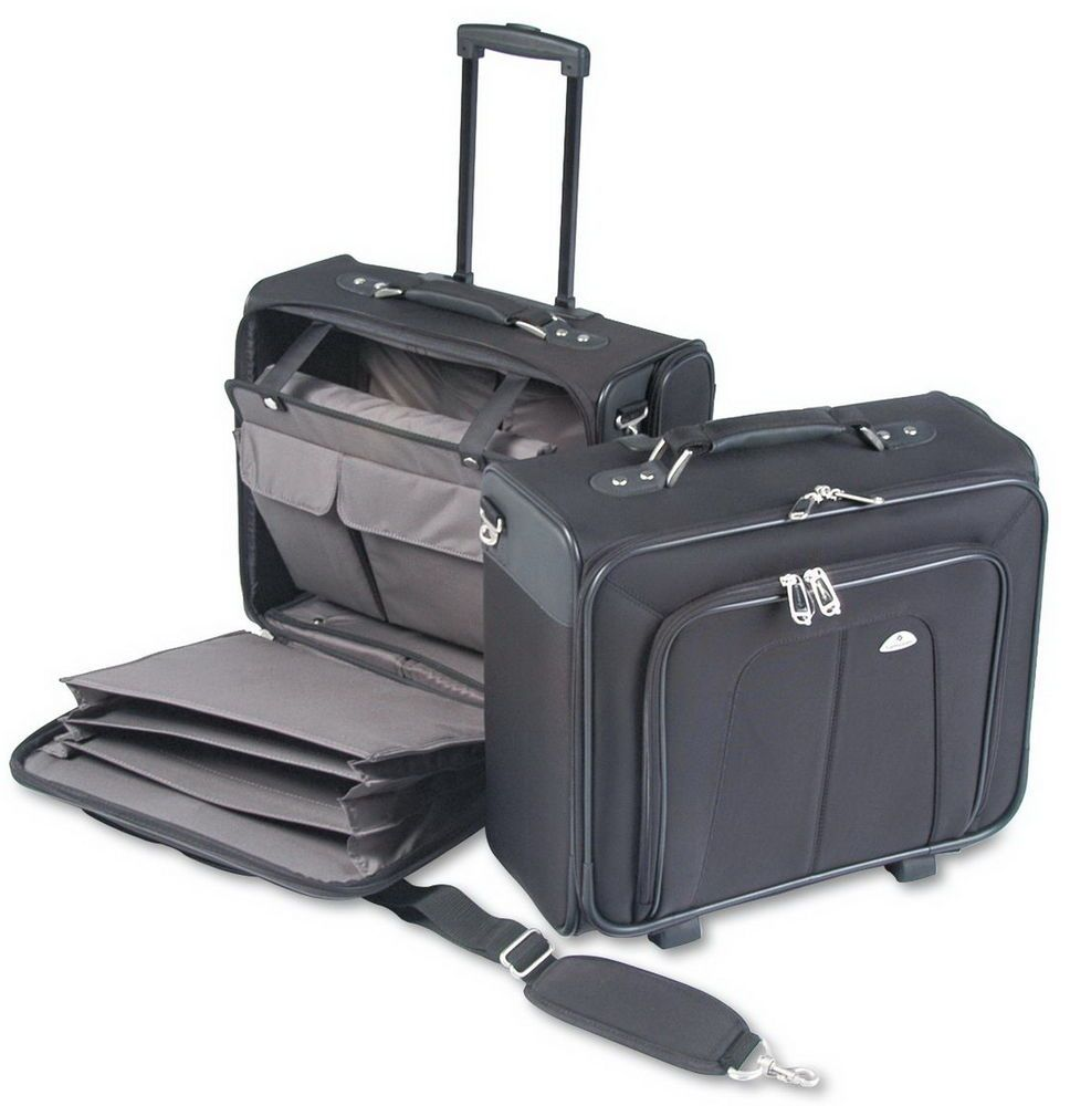 New Samsonite Ballistic Rolling Office Laptop Padded Briefcase ...