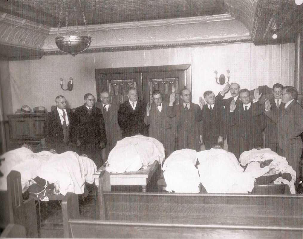 1929 Victims Of The St Valentines Day Massacre Mobsters