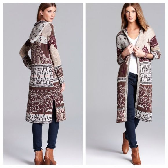 Free People Americana Hooded Duster Cardigan | Patchwork patterns ...