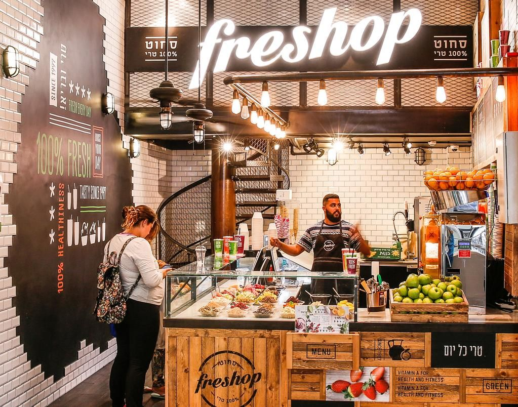 How Design On Twitter Juice Bar Design Juice Bar Fruit Shop