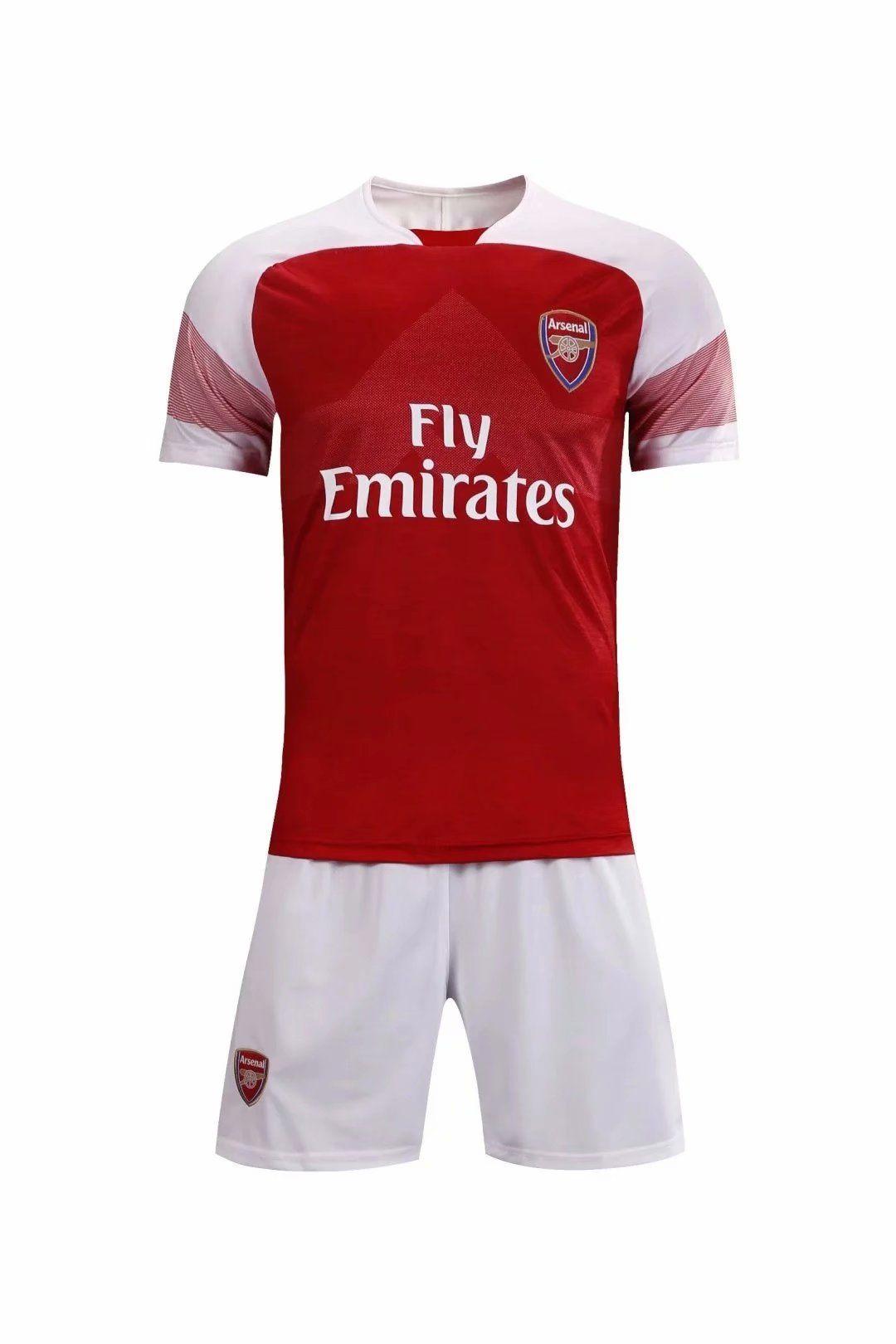 342f06971dc54 18/19 Kids Arsenal Home Without Brand Logo Soccer Uniforms Children  Football Kits