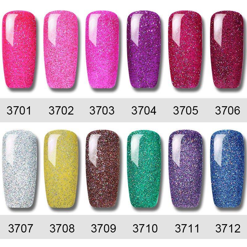 Clavuz 3pcs Set 8ml Glitter Neon Uv Gel Nail Polish Super Bling