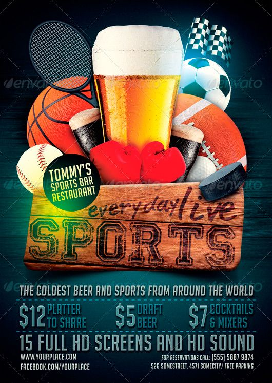 Sports Bar Flyer Template ffflyersportsbar – Bar Flyer Template
