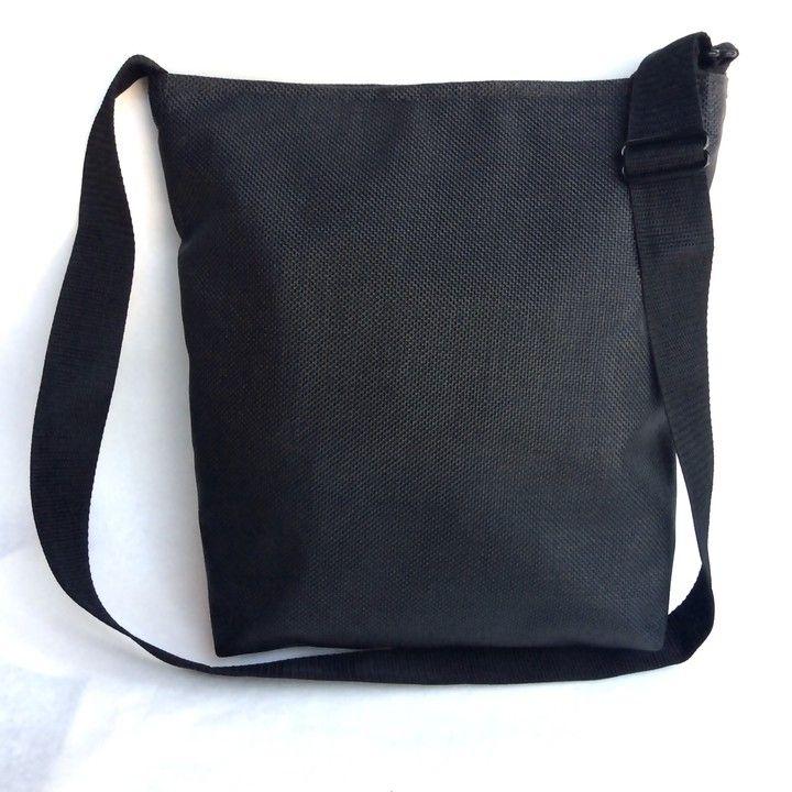 Thee Essential Black From Juju Bagz Super Lightweight Woven Vinyl Handbags