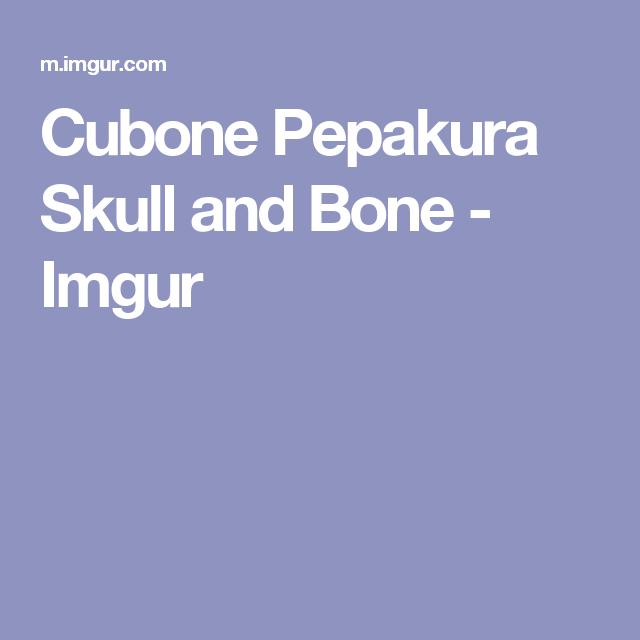 Cubone Pepakura Skull and Bone - Imgur