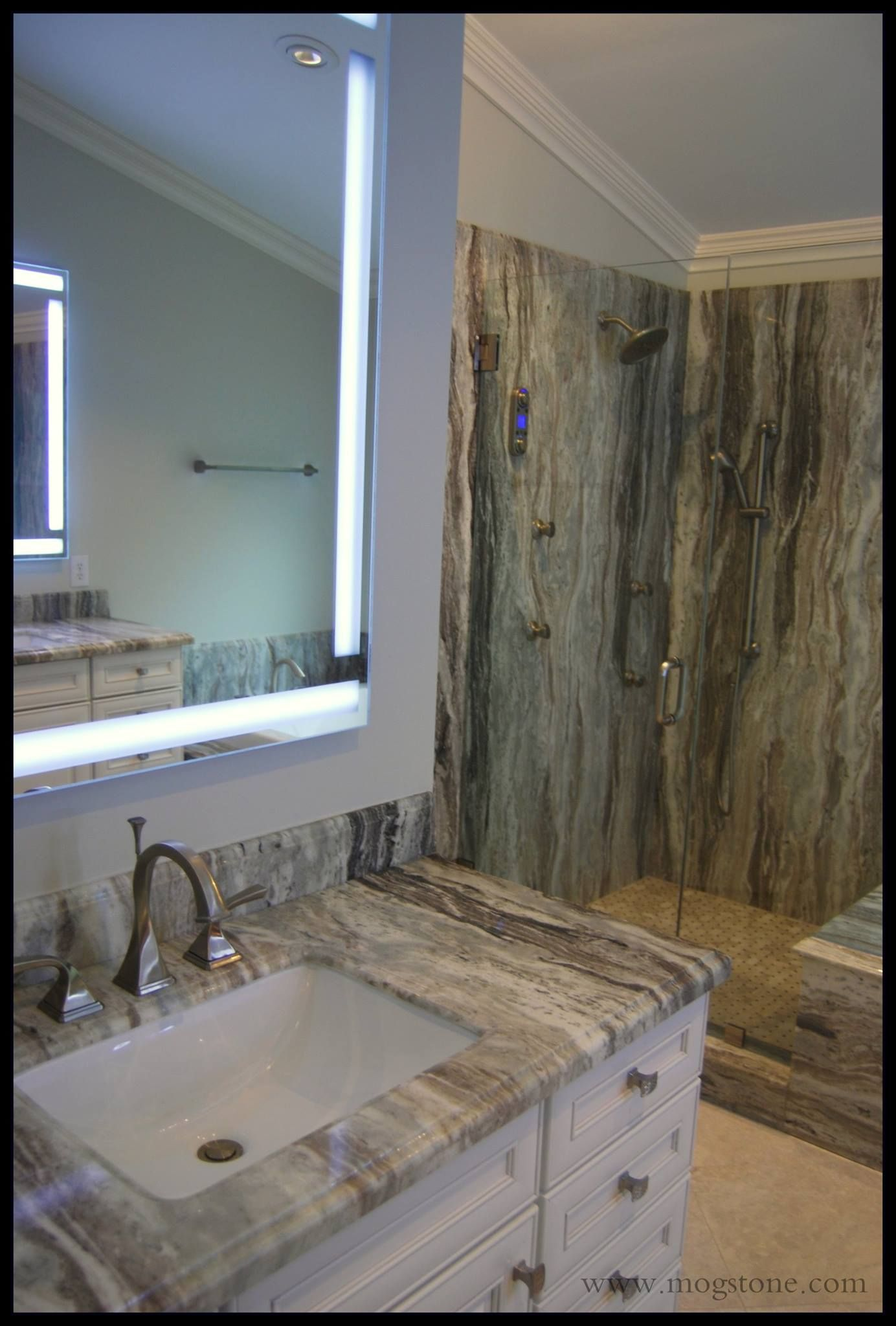 Fantasy brown countertop and backsplash countertop for Bathroom ideas marble