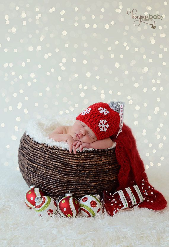 Ornament hat, Christmas hat, newborn christmas photo prop, baby boy