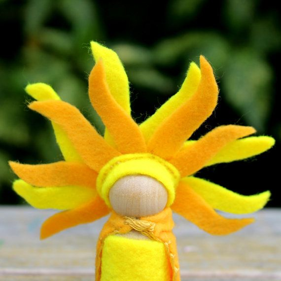 Summer Solstice Sun Gnome Summer Nature by HereComesBrotherSun