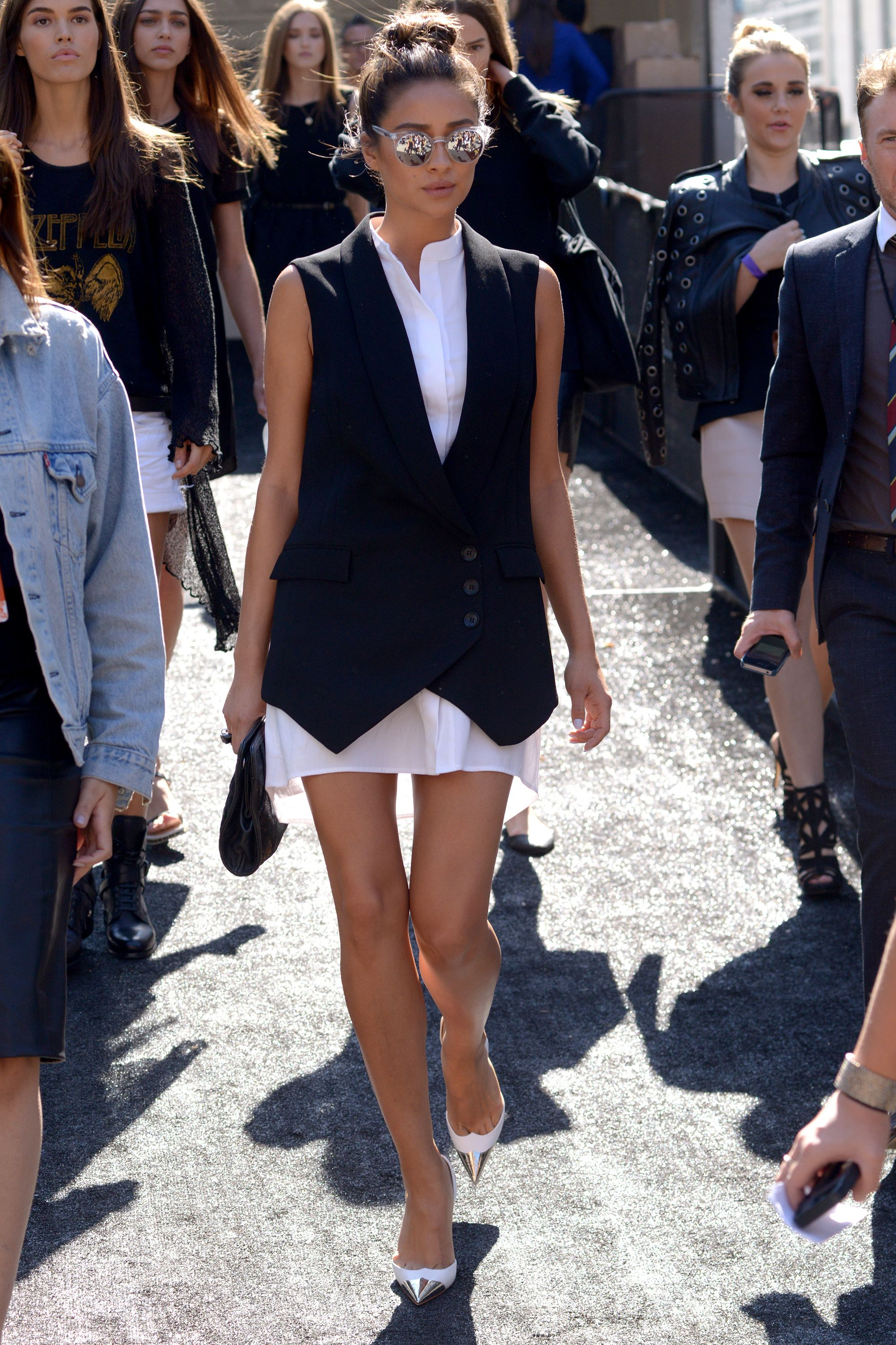 29b995d93d87 Shay Mitchell~ Mercedes-Benz Fashion Week Spring 2015 – Celebrity Sightings  .