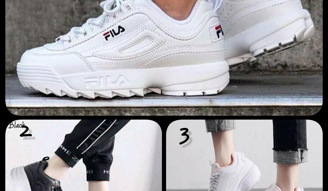 Gambar Sepatu Wanita Hitam Putih Sepatu Wanita Sepatu Kets