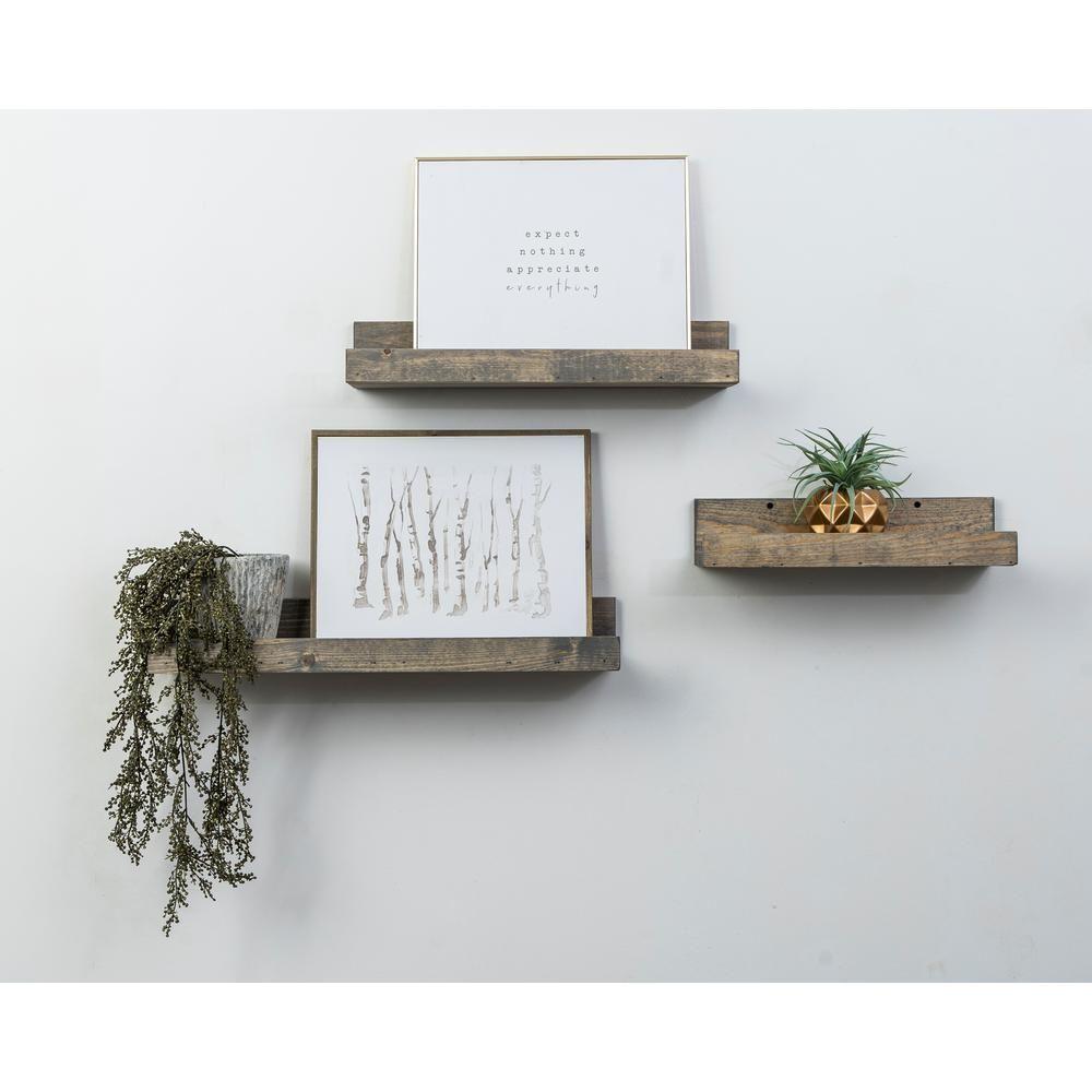 Del Hutson Designs Rustic Luxe 7 In Depth Walnut Pine Wood