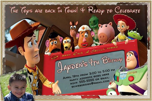 17 Best images about Invitations – Toy Story Party Invites