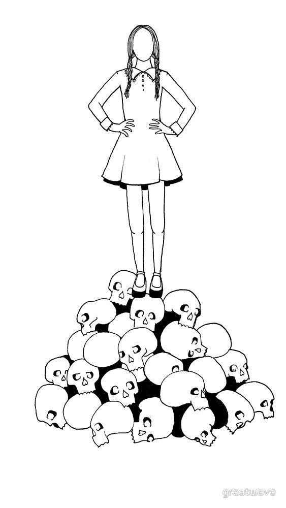 Must Be Wednesday By Greatwave Addams Family Tattoo Wednesday Addams Tattoo Monster Coloring Pages