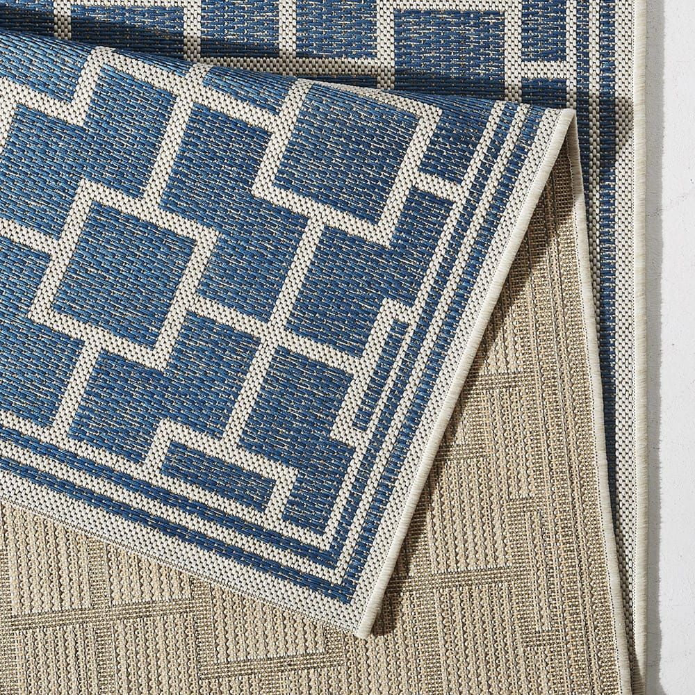 in und outdoor teppich bougari bay blau 102481 outdoor teppiche pinterest outdoor teppich. Black Bedroom Furniture Sets. Home Design Ideas