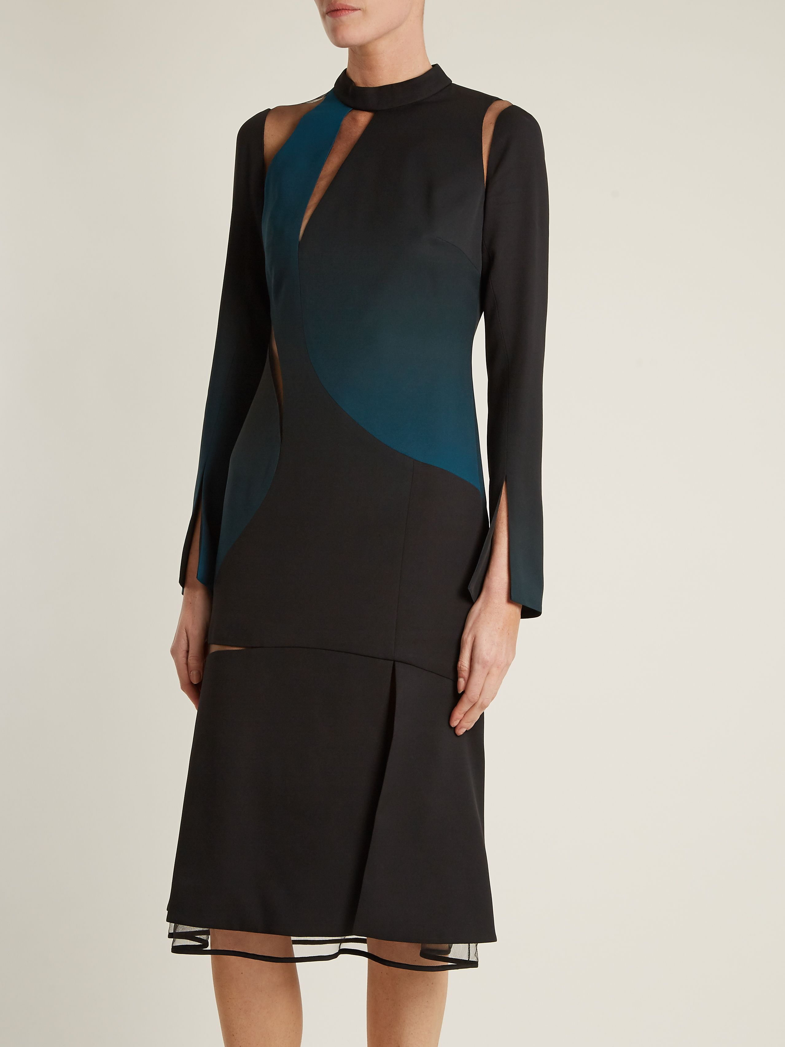 Cut-out high-neck layered dress Versace Free Shipping Recommend M3wTQDZXyr