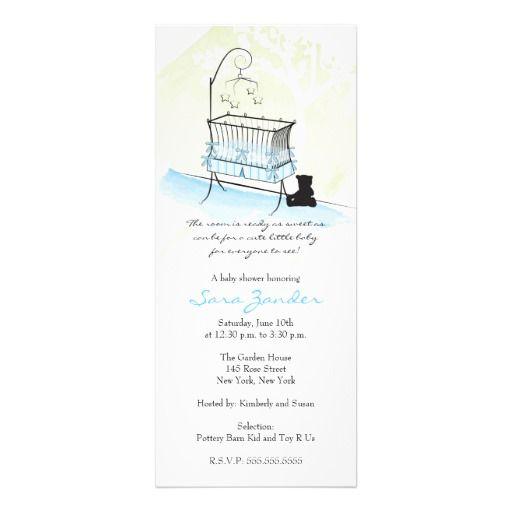 Boy Baby Shower Invitation - Baby Crib