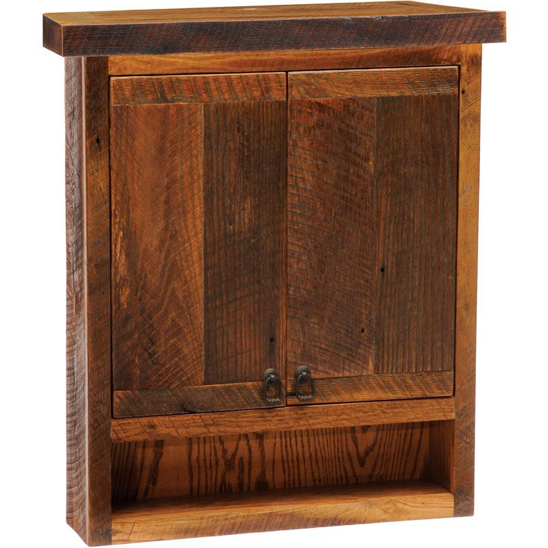 Rustic Barnwood Toilet Topper Cabinet Barn Wood Lodge Furniture Wall Mounted Cabinet