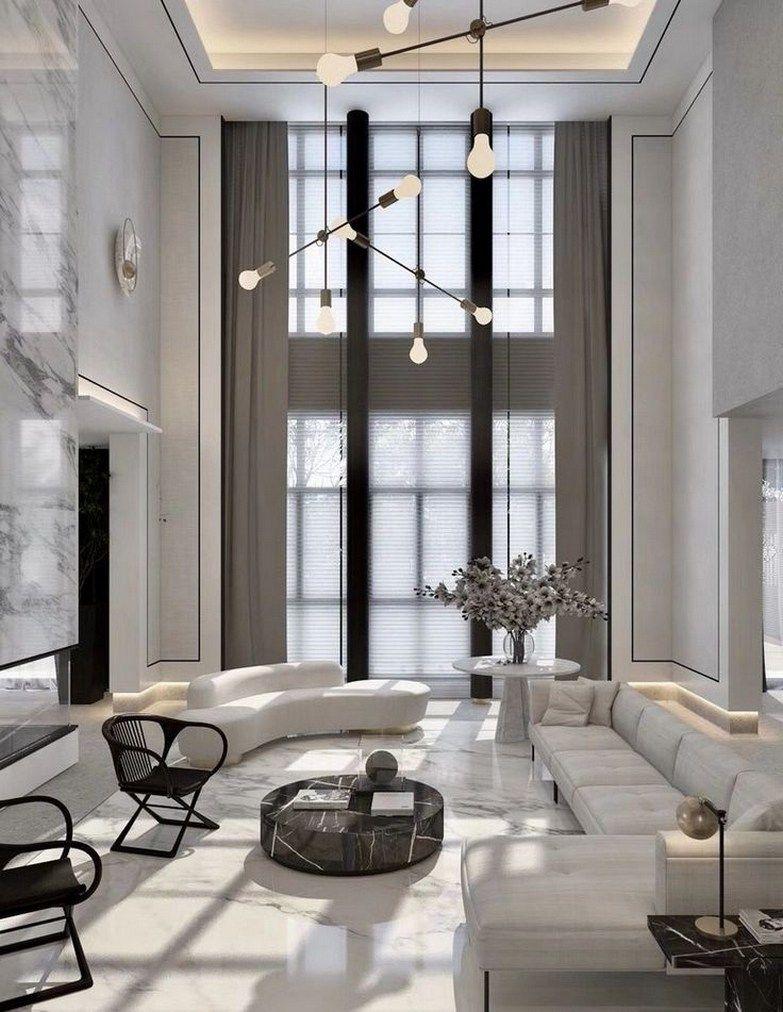 73 Best Modern House Interior Design Ideas 25 In 2020 High Ceiling Living Room Luxury Living Room Design Minimalist Living Room