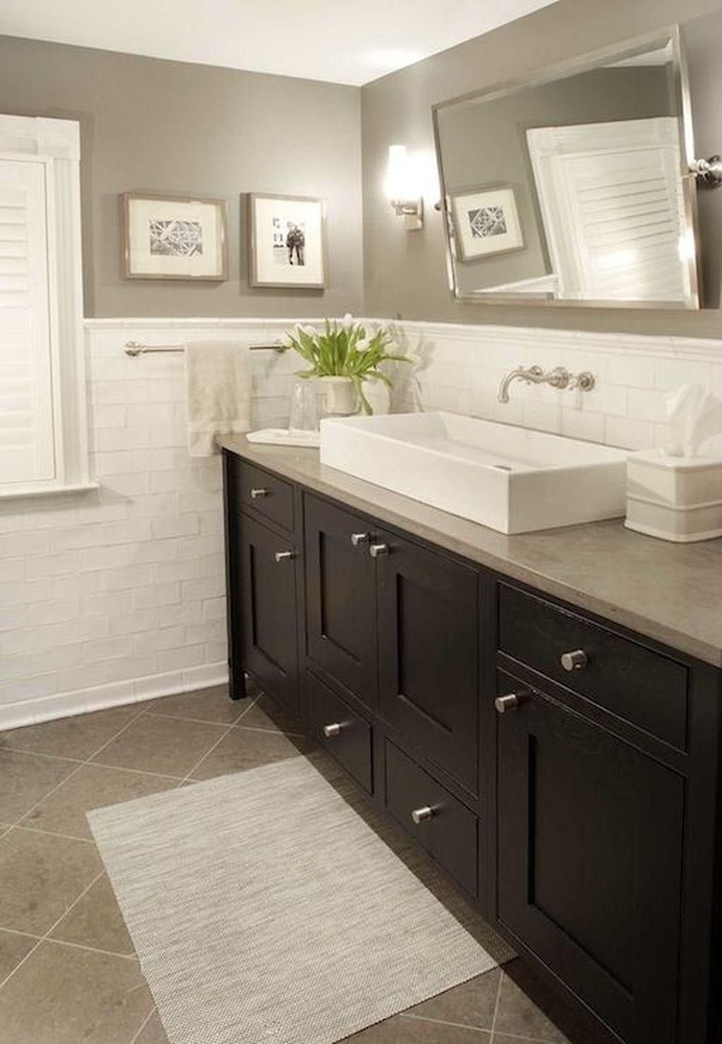 30 Popular Kitchen Color Scheme Ideas For Dark Cabinets Traditional Bathroom Bathroom Inspiration Bathroom Design