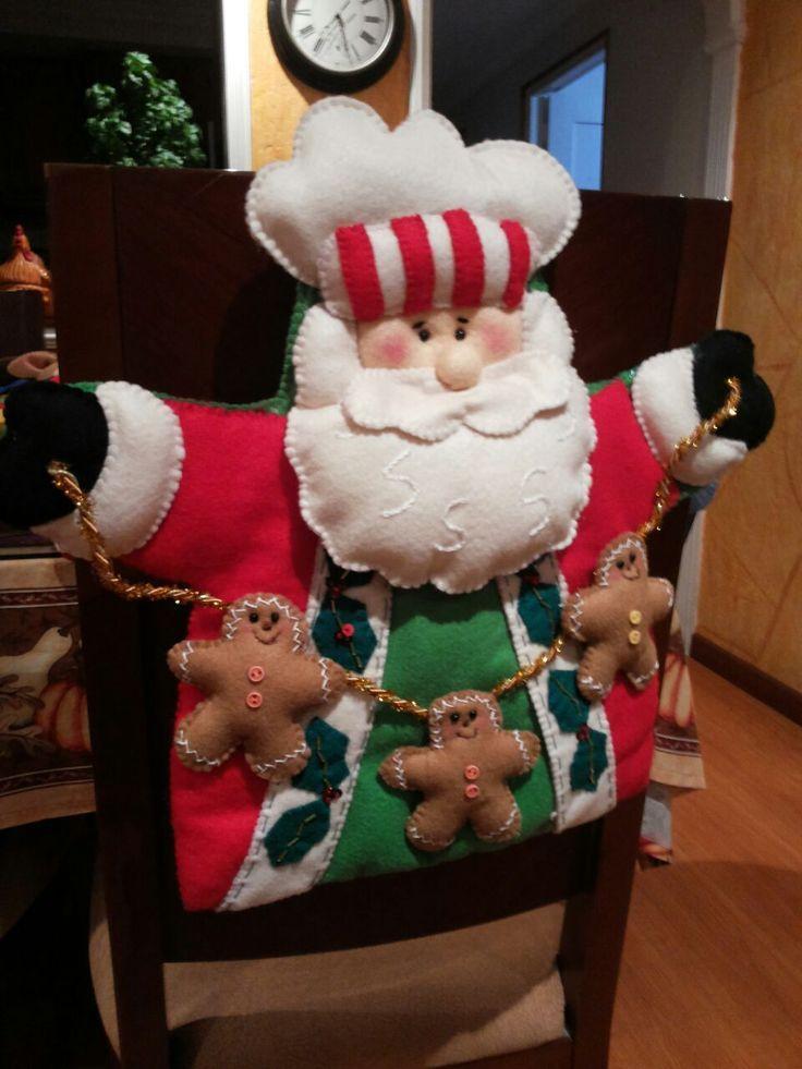 Decoracion sillas navidad 8 curso de organizacion de - Adornos navidenos para sillas ...