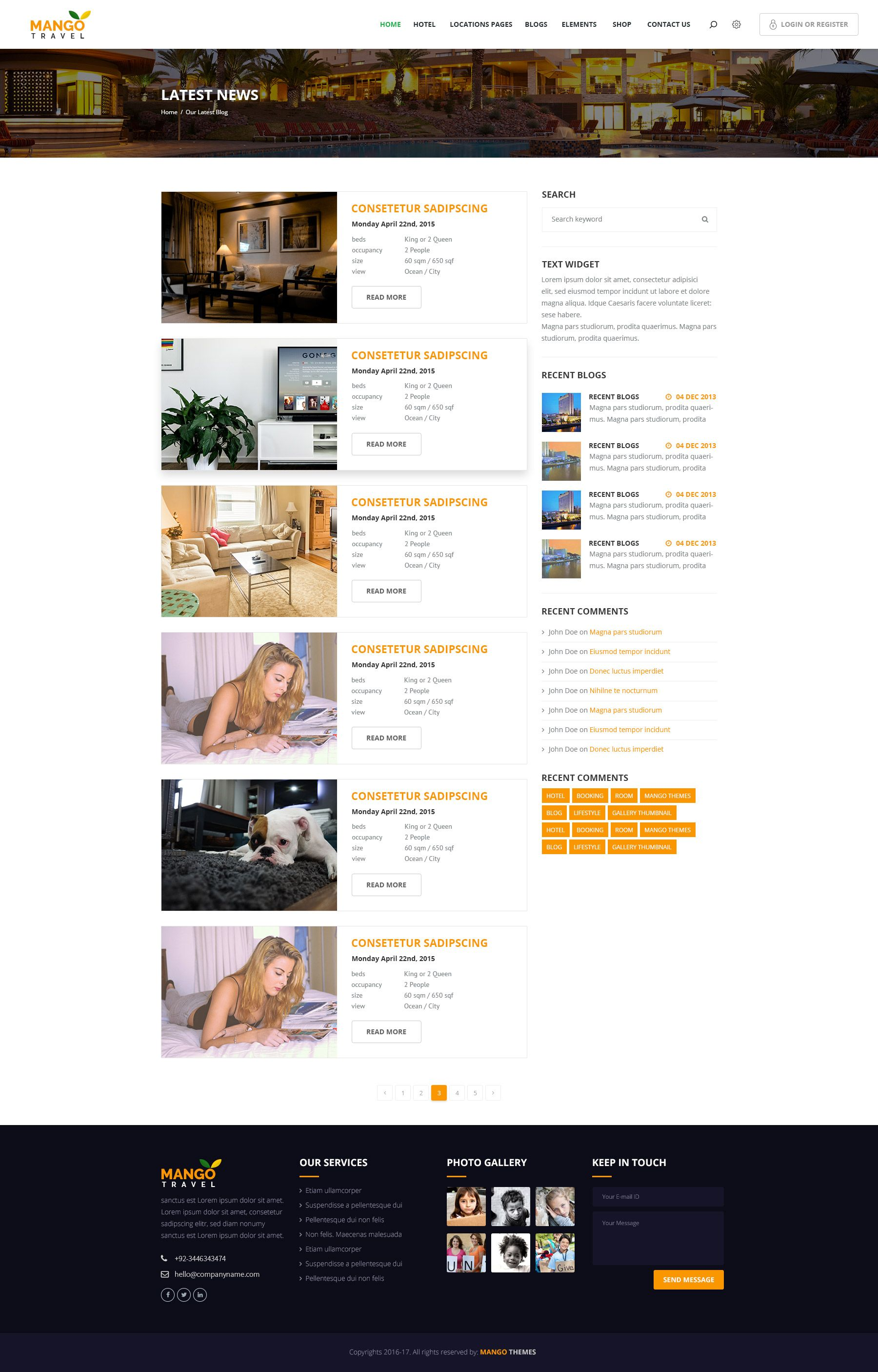 mango travel pinterest psd templates responsive grid and template
