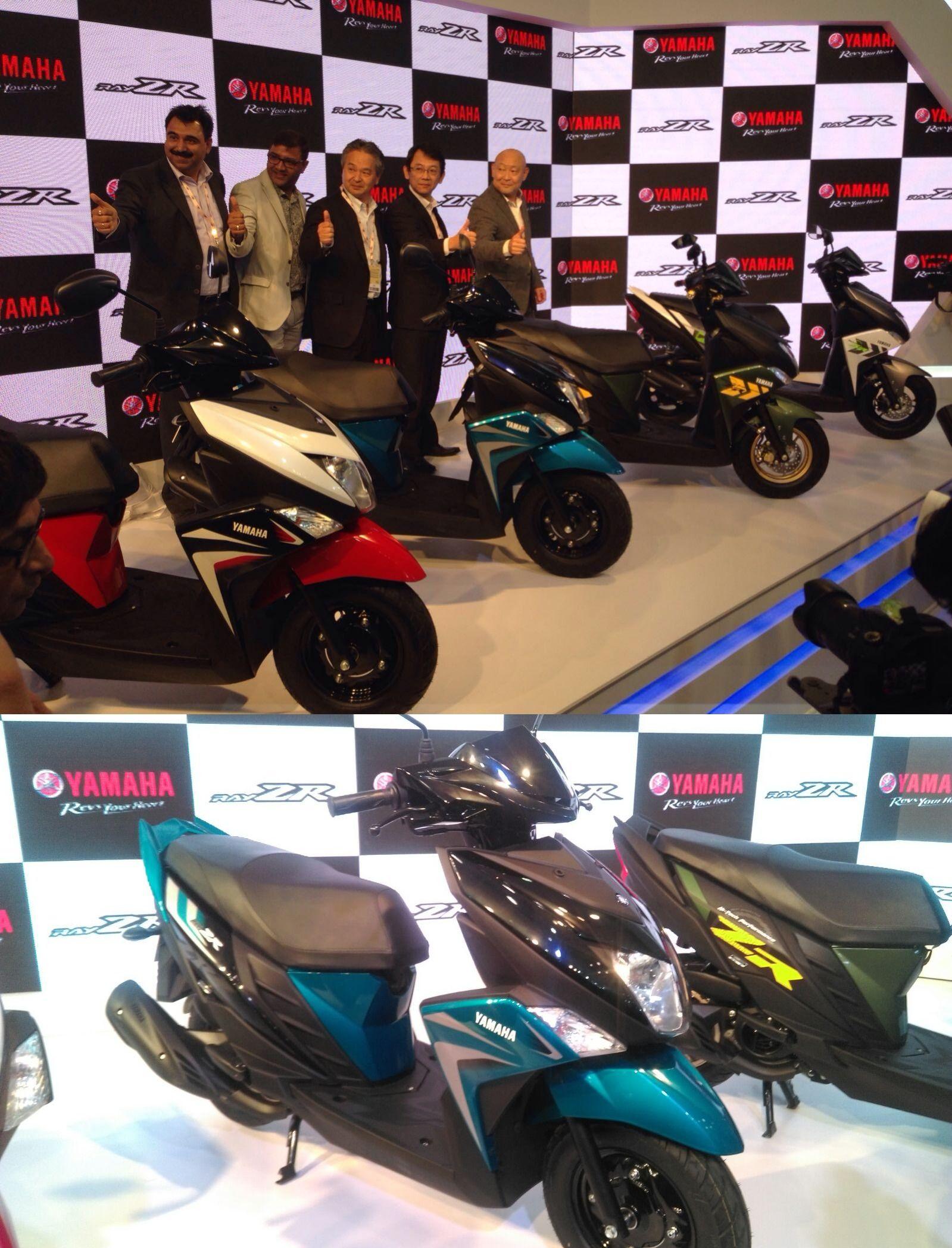 Yamaha motorcycle gloves india -  Autoexpo2016 Live Updates Yamaha Motor India Introduce Rayzr Line Up