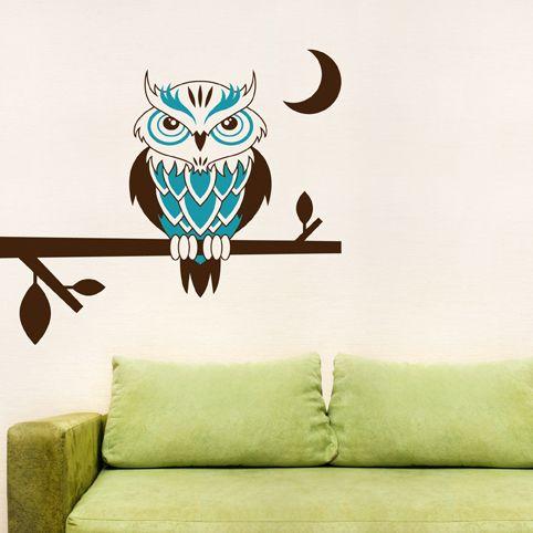 Owls on tree branch wall decor