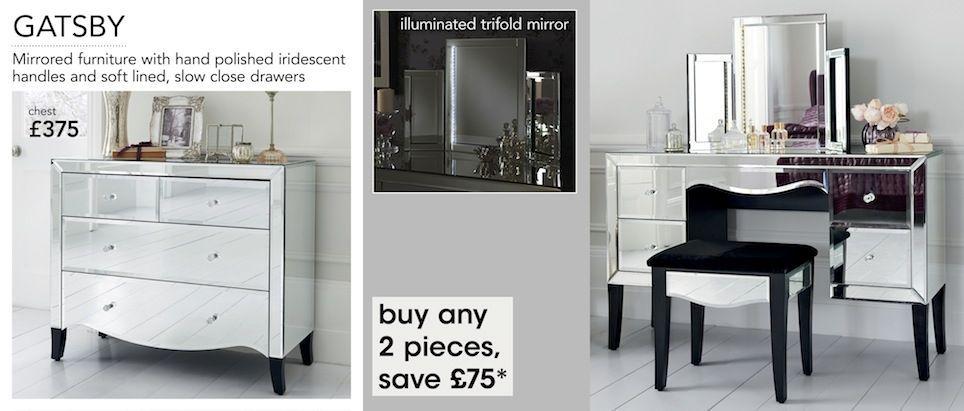 next mirrored furniture. Next Gatsby Mirrored Furniture Range R