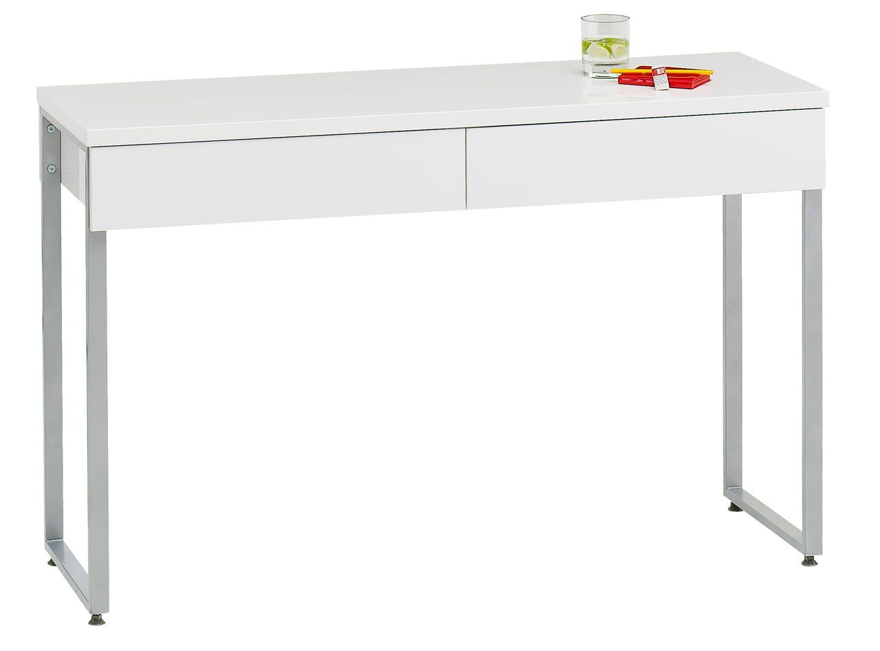 Työpöytä STEGE valkoinen korkeakiilto | JYSK