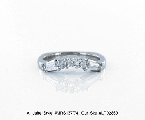 A. Jaffe #MRS137/74 0.74 CTW Diamonds in a 18 Karat White Gold and Diamond Band $5,350 jewelry/   eBay http://www.ebay.com/itm/A-Jaffe-MRS137-74-0-74-CTW-Diamonds-18-Karat-White-Gold-and-Diamond-Band-/270895643326?pt=US_Wedding_Bands_with_Diamonds_Gemstones=item3f12a37abe