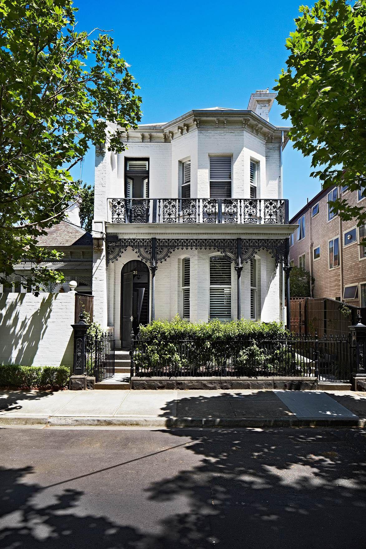 Melbourne Apartments Converted Into Family Home Townhouse Exterior Terrace House Exterior Facade House