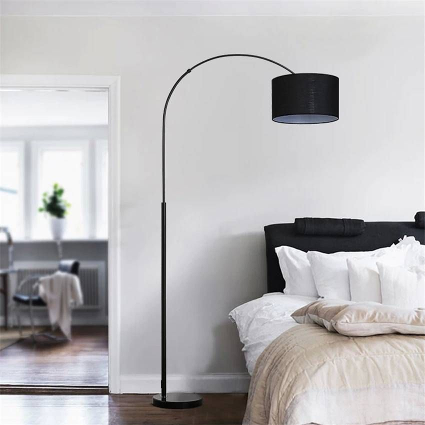Nordic Cloth Shade Loft Led Floor Lamps Standing Lights Living Room Bedroom Bedside Fishing Floor Standing Lamps Lights Fixtures In 2020 Floor Standing Lamps Living Room Lighting Floor Lamp Bedroom