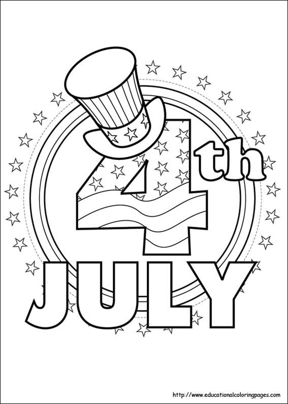 4thofJuly Fireworks Kids Coloring Pages and Free Colouring