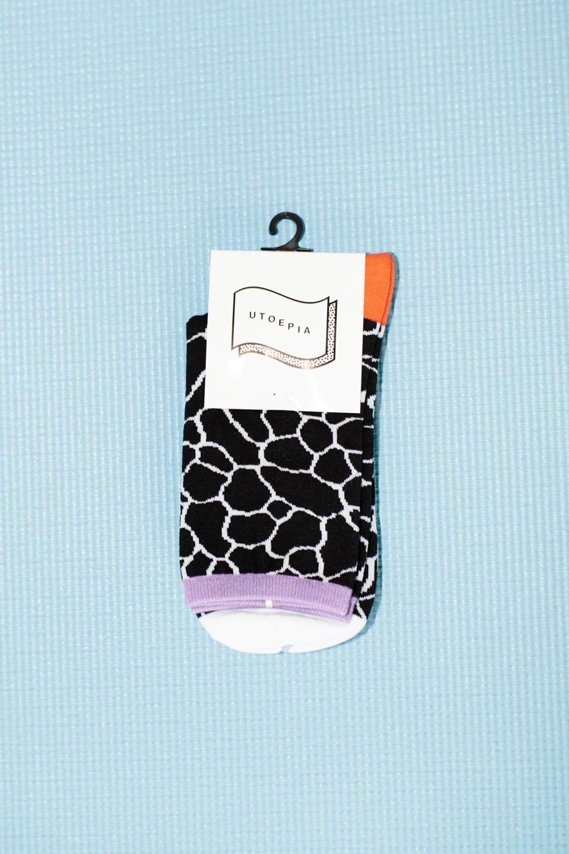 """Utoepia – """"Cracked Black"""" Socks"""