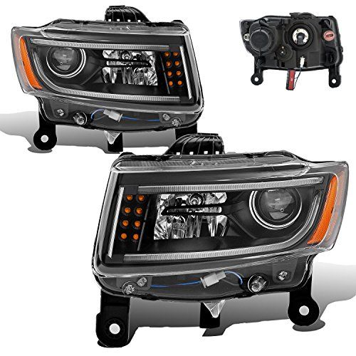 Sppc Black Projector Plank Style Headlights For Jeep Grand