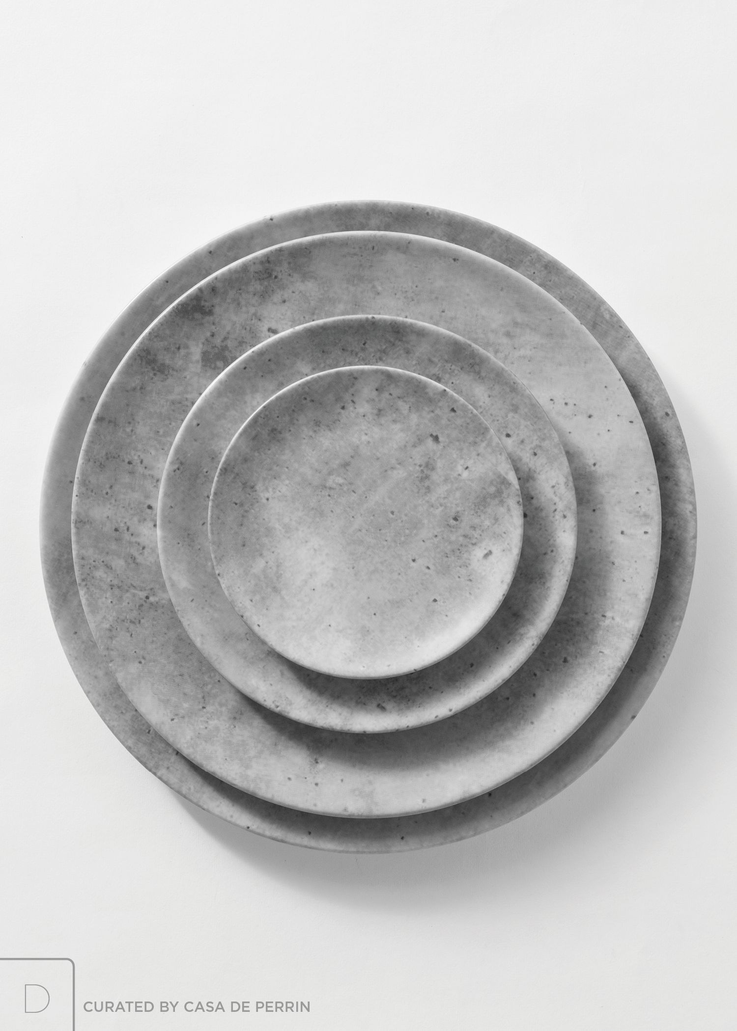 Fine porcelain dinnerware with a matte concrete finish. $14.00 | Charger (12.6 ) $7.00 | Dinner Plate (11u201d) $6.00 | Salad/Dessert Plate (7.9 ) $4.00 ... & Fine porcelain dinnerware with a matte concrete finish. $14.00 ...