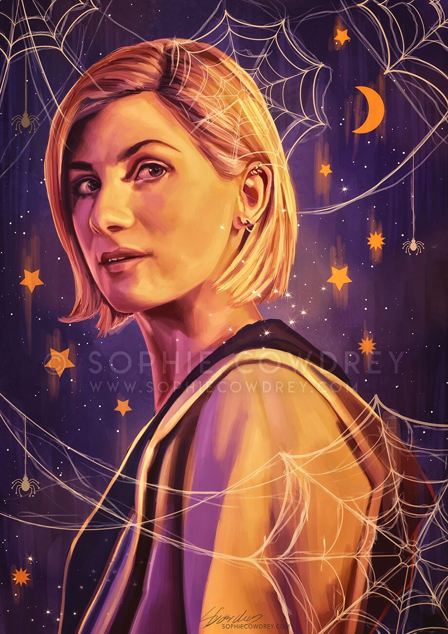 Digital Portrait Of Jodie Whittaker As The 13th Doctor Doctor