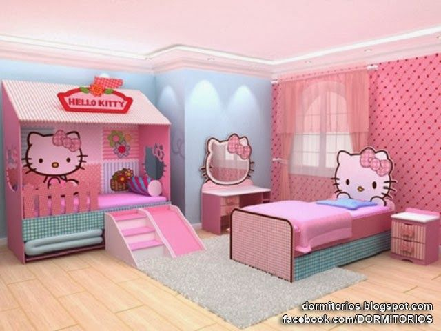 Dormitorios hello kitty bedrooms dormitorios fotos de for Dormitorios infantiles tematicos