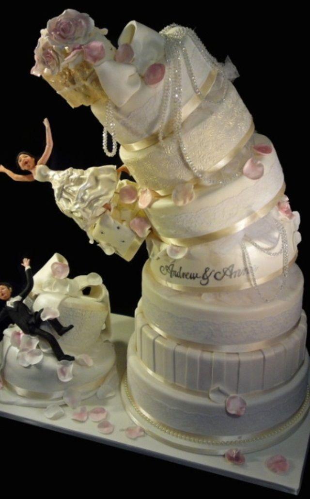 Crazy wedding cake... I love it