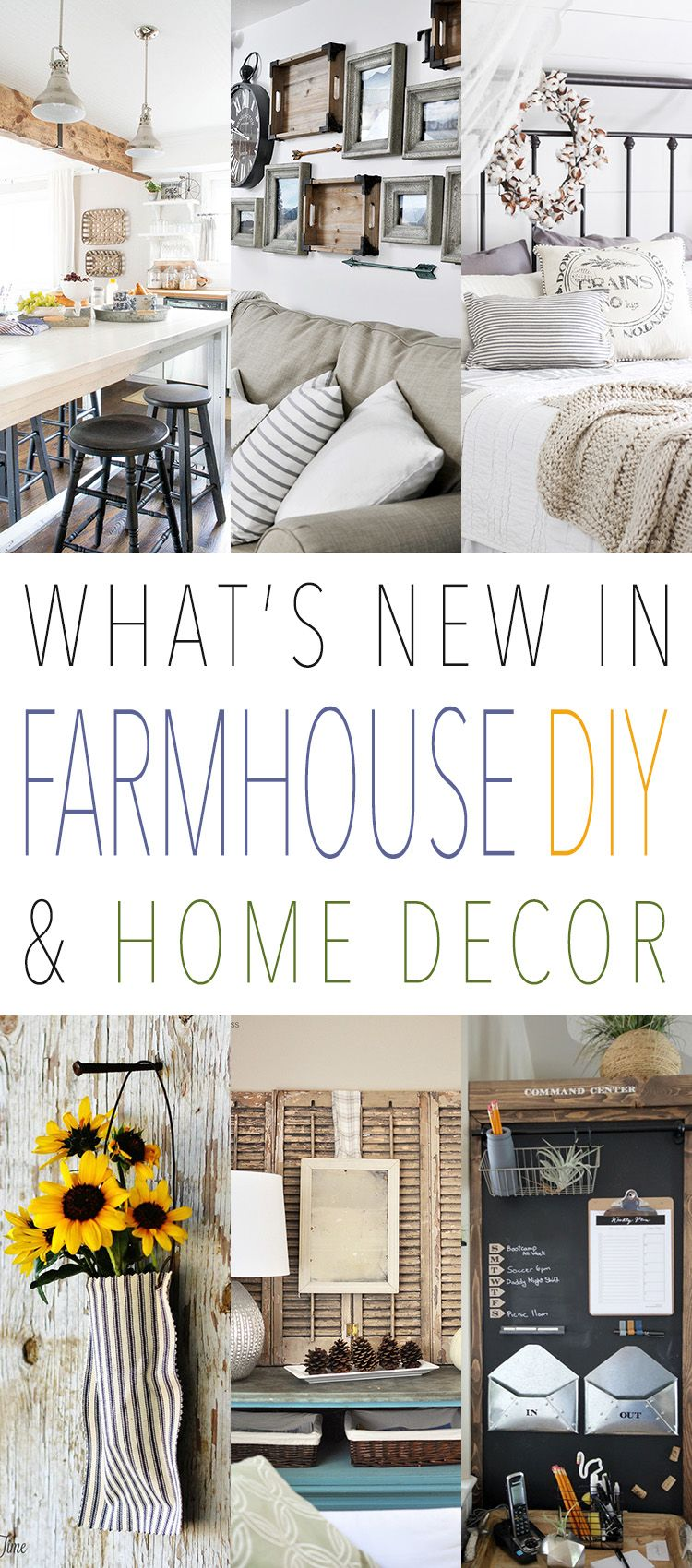 What's New in Farmhouse DIY and Home Decor Unique home