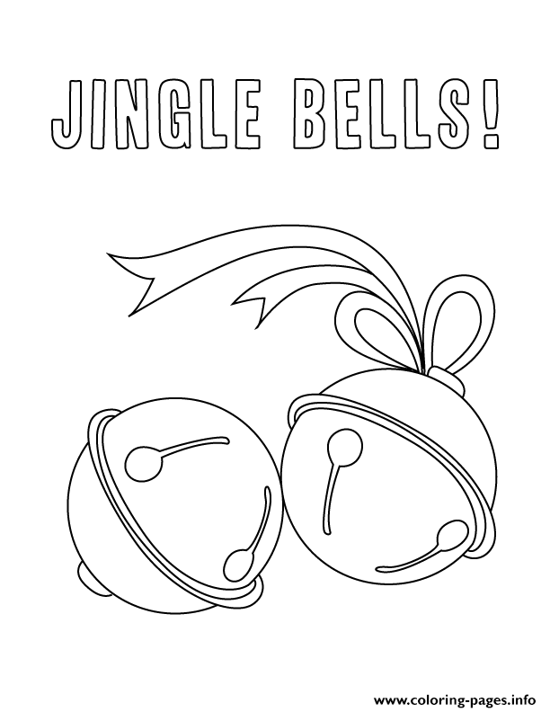 Print December Holiday jingle bells coloring pages | Color pages ...