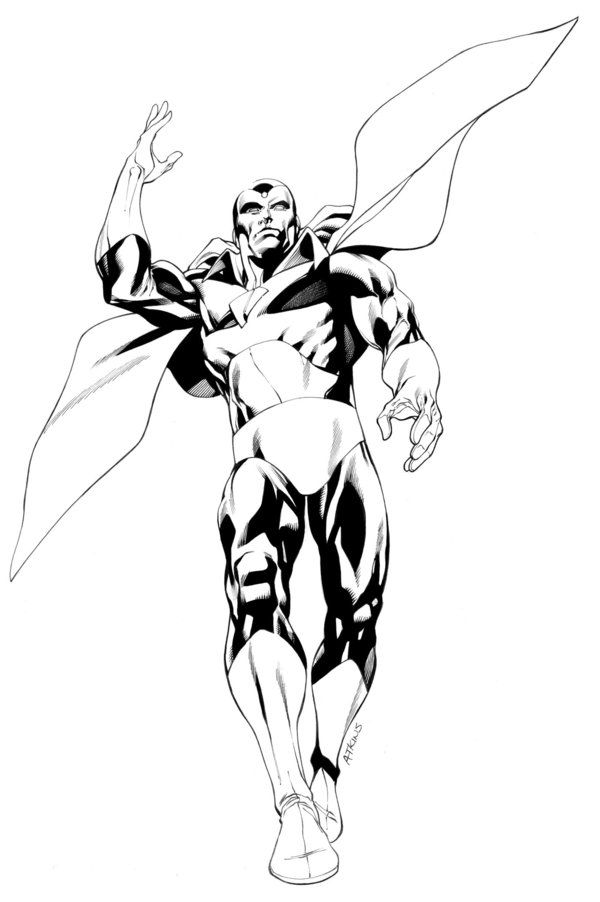 Avengers April Vision Sotd Avengers Avengers Art Avengers Coloring Pages