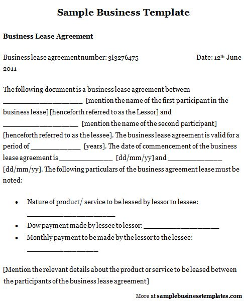 Business Template Business Templates Pinterest - owner operator lease agreement sample