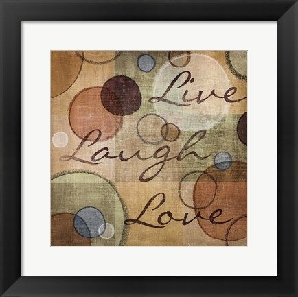 Live Laugh Love By N Harbick Framed Poster Art Wall Art Quotes Live Laugh Love